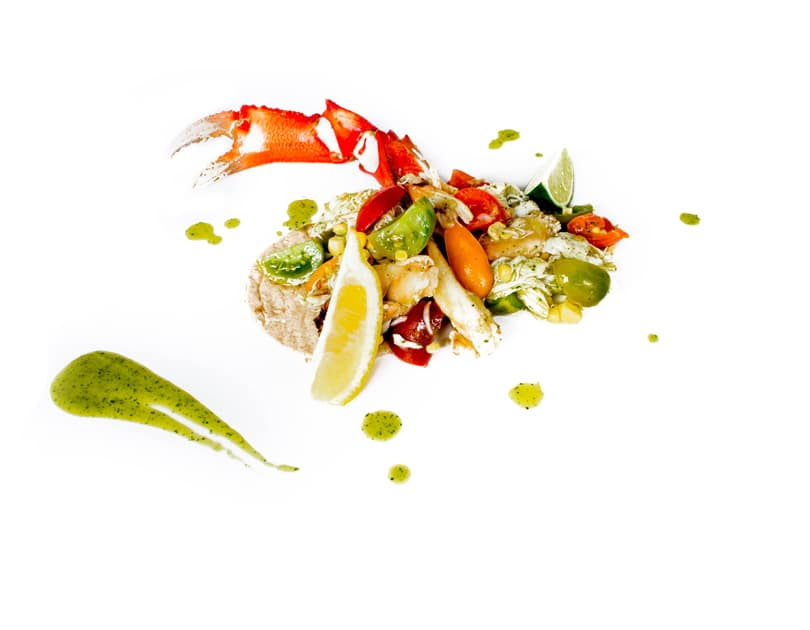 Salată de rac cu dressing de oregano