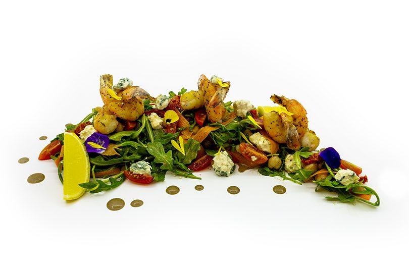 Salată cu rucola și creveți