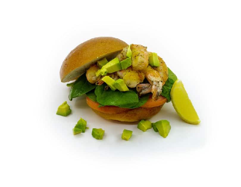 Sandwich cu spanac și creveți
